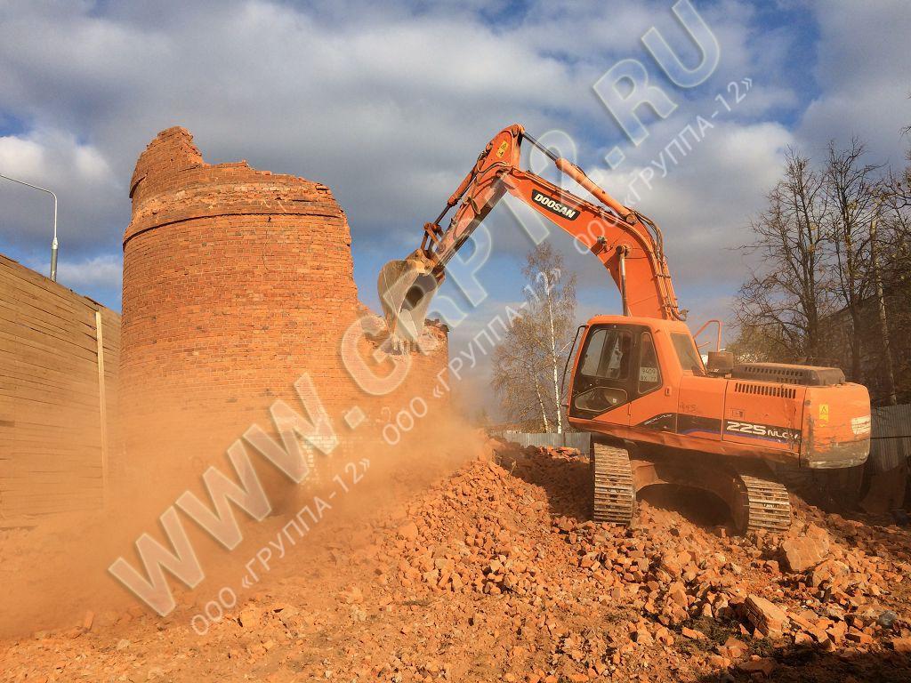 Демонтаж водонапорной башни в Московском